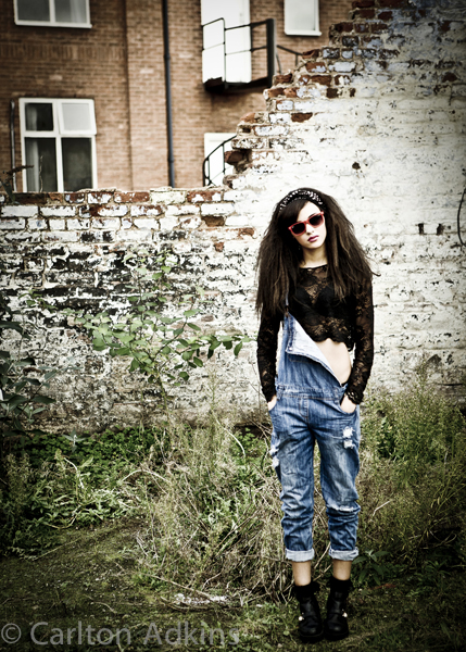 urban street fashion photography on location in manchester