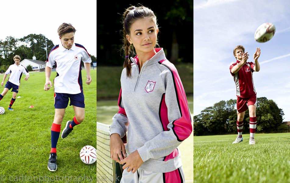 schoolwear fashion photography of sportswear
