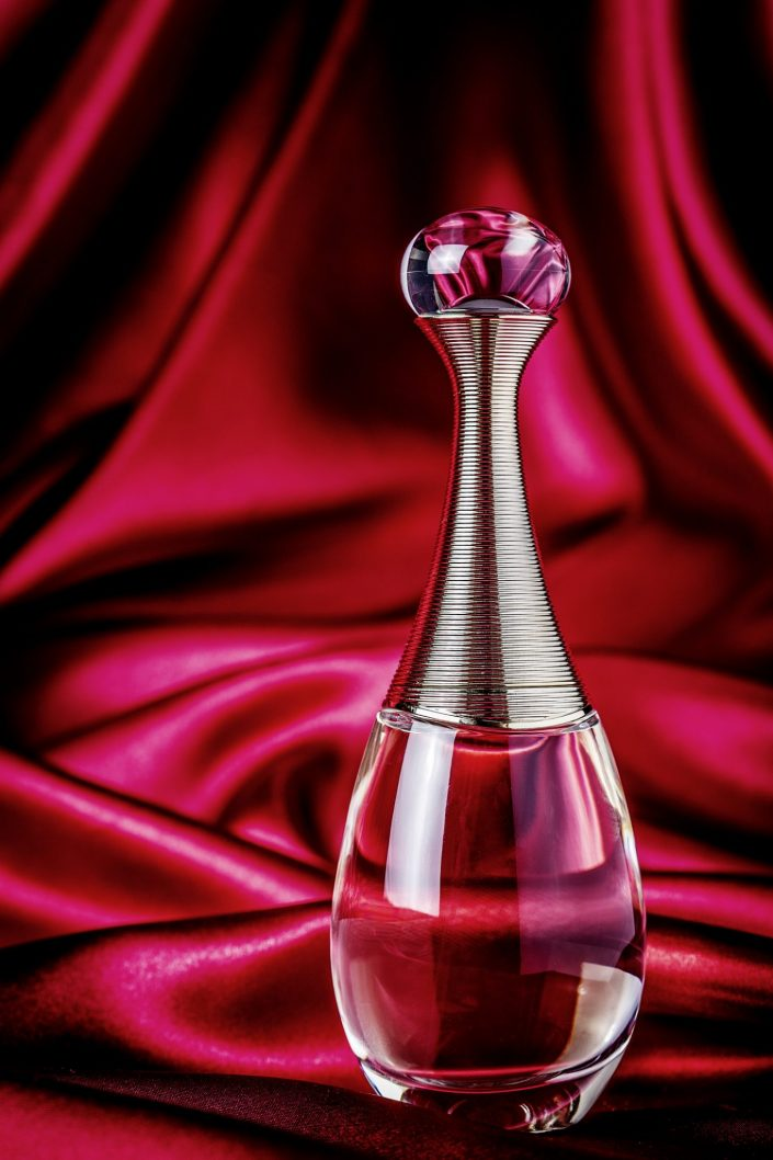 creative advertising product photography for adore perfume