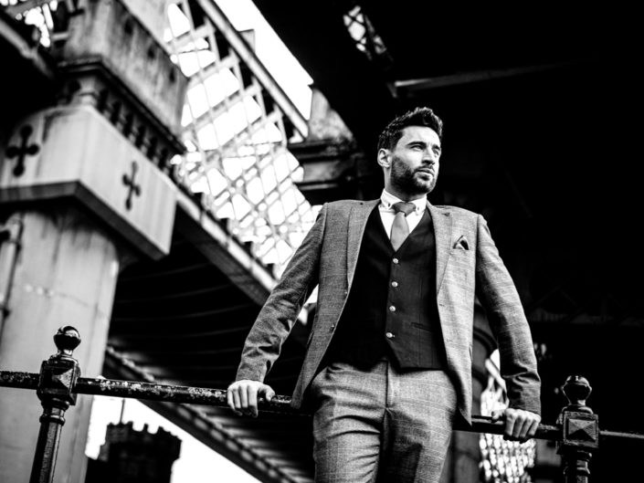 Advertising Menswear Photography on location in Manchester